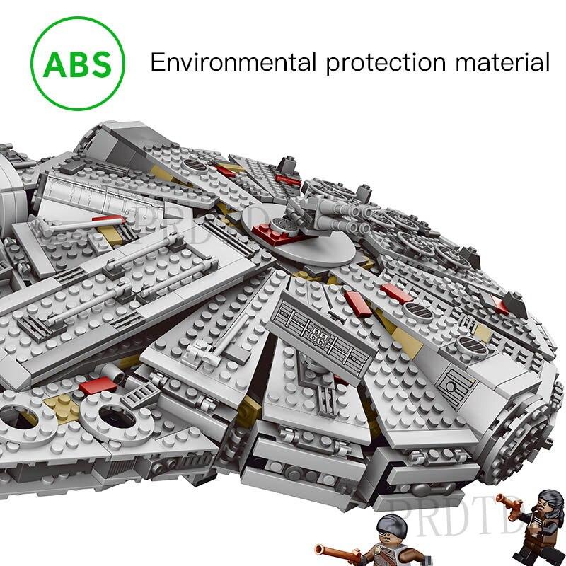 1381 Pcs Blocs de Construction LegoINGLYS StarWars Millennium Falcon Chiffres Star Wars Modèle Force Éveille Inoffensif Brique 75105 kid Jouet - 4