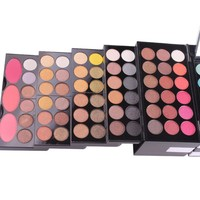 MISS ROSE 144 Color Eye Shadow 3 Color Blush 3 Color Eyebrow Color Makeup Kit Makeup