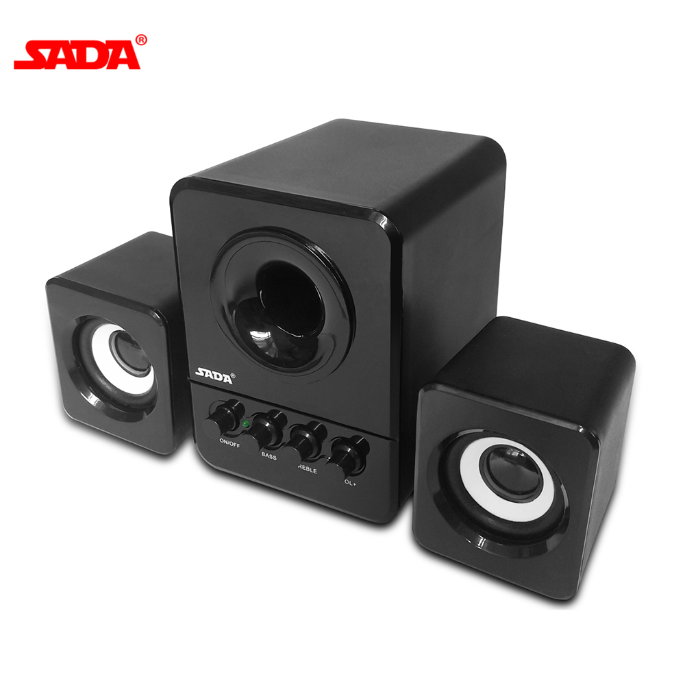 SADA D-203 Combination Speaker USB Wired Computer Speaker Bass Stereo Music Player Subwoofer Sound Box Speaker for Smart Phone