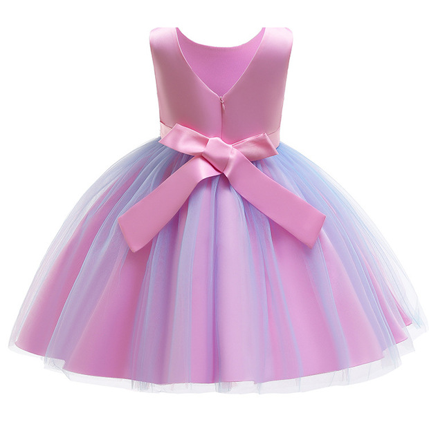 New pattern Girls Birthday Wedding Party Pageant Long Princess Dress Kid Christmas Costume Clothes Prom Dresses 4-14 years old 4