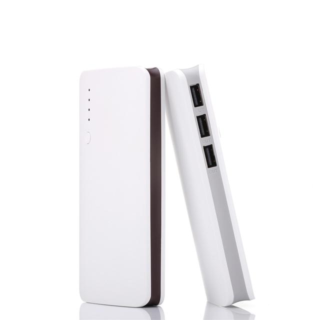 Nuevo 3 usb banco de la energía para samsung powerbank 10000 mah banco de potencia 18650 batería externa para xiaomi iphone de copia de seguridad de copia de seguridad poder