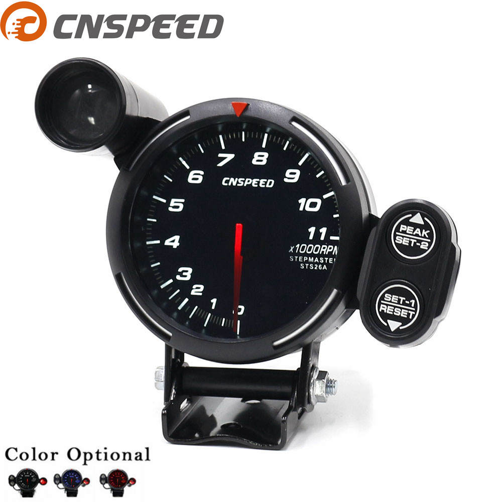 cnspeed 80mm car tachometer gauge stepper motor 0 11000 rpm meter tachometer car meter red blue. Black Bedroom Furniture Sets. Home Design Ideas