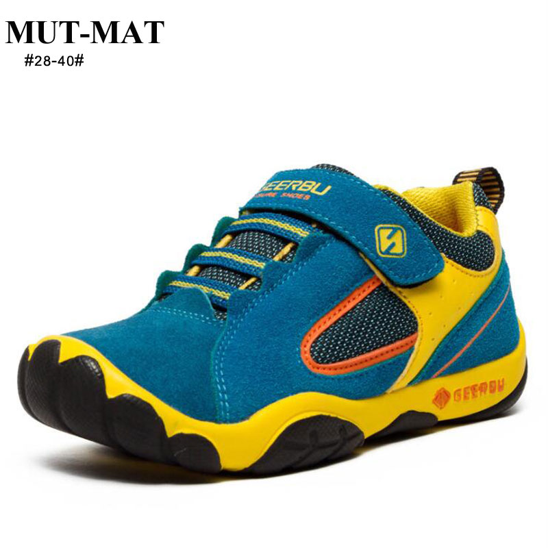 Kids Shoes Children's Shoes Spring Children's Sports Shoes Leather Running Shoes Boys Wear-resistant &comfortable Sneakers