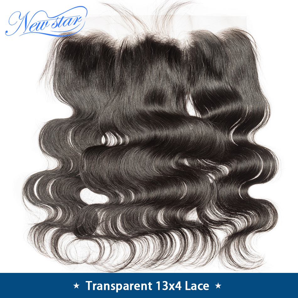Lace Closures TRANSPARENT Human-Hair Body-Wave Virgin Pre-Plucked Brazilian 13x4 New
