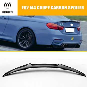 M4 Carbon Fiber Rear Wing Spoiler for BMW F82 M4 Coupe 2014 2015 2016 Auto Racing Car Styling Tail Trunk Lid Lip Wing Spoiler image