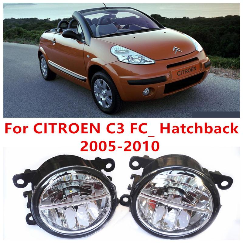 ФОТО For CITROEN C3 FC_ Hatchback  2005-2010 Fog Lamps LED Car Styling 10W Yellow White 2016 new lights