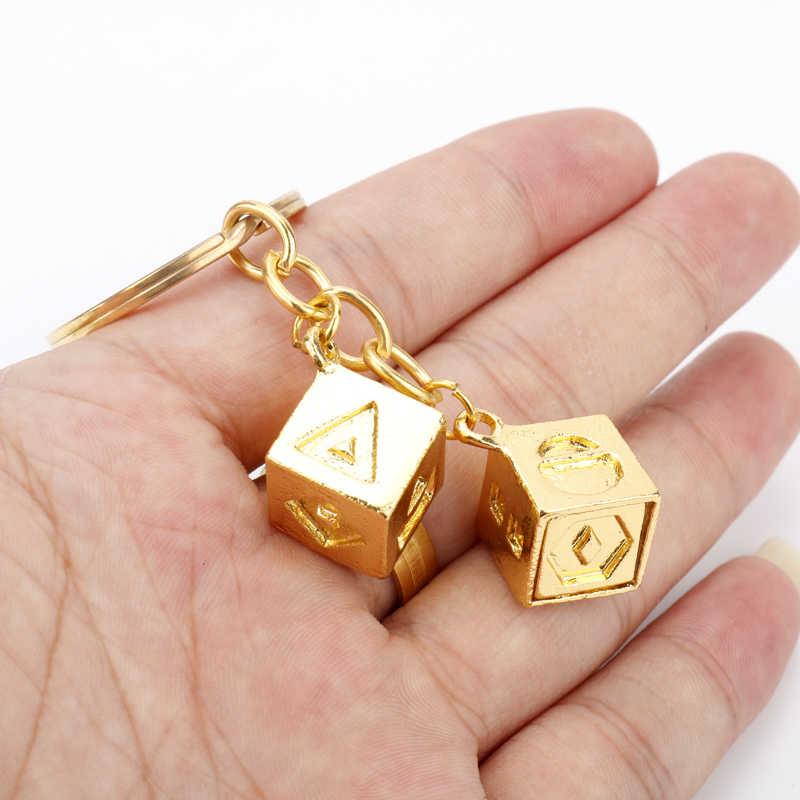 HANCHANG Star Wars brelok Han Solo szczęście kości Cude brelok stop klucz wisiorek powodzenia biżuteria brelok do kluczy llavero