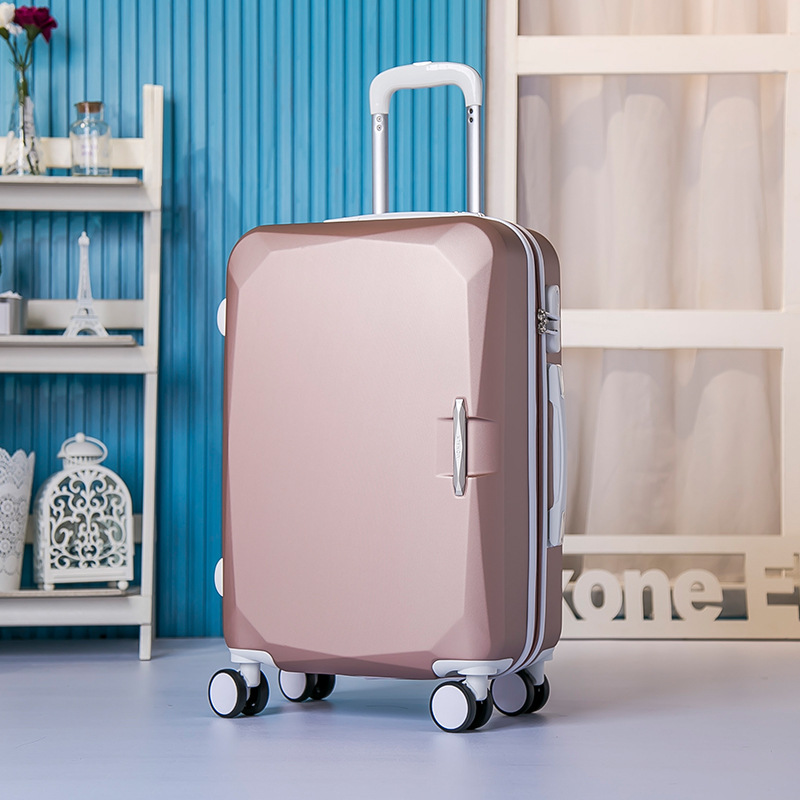 New 20-inch ABS rod box universal wheel suitcases children boarding students box multicolor pure color suitcase 1580#
