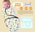 Bebé bebé de algodón 0 a 6 meses algodón Neonatal fue bebé dormía mantas
