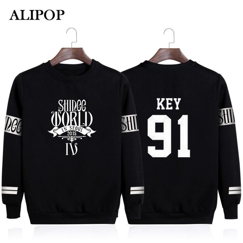 KPOP Korean Fashion Shinee Onew Min Ho Taemin Jong Hyun Key Album World Cotton Hoodies K-pop Pullovers Sweatshirts PT076