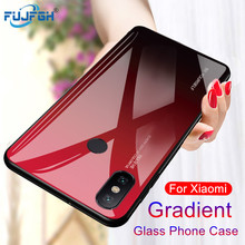 Get more info on the Colorful Gradient Tempered Glass Phone Case For Xiaomi mi 9 a1 a2 mix2s 6 8 se mi6 a1 a2 lite f1 Blue Ray Cover Shell Coque Capa