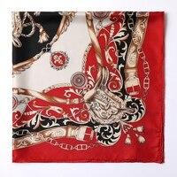 Slight Print Defect Processing 100 Silk Twill Scarf Large Square Silk Scarfs Shawl Wraps Charming Type