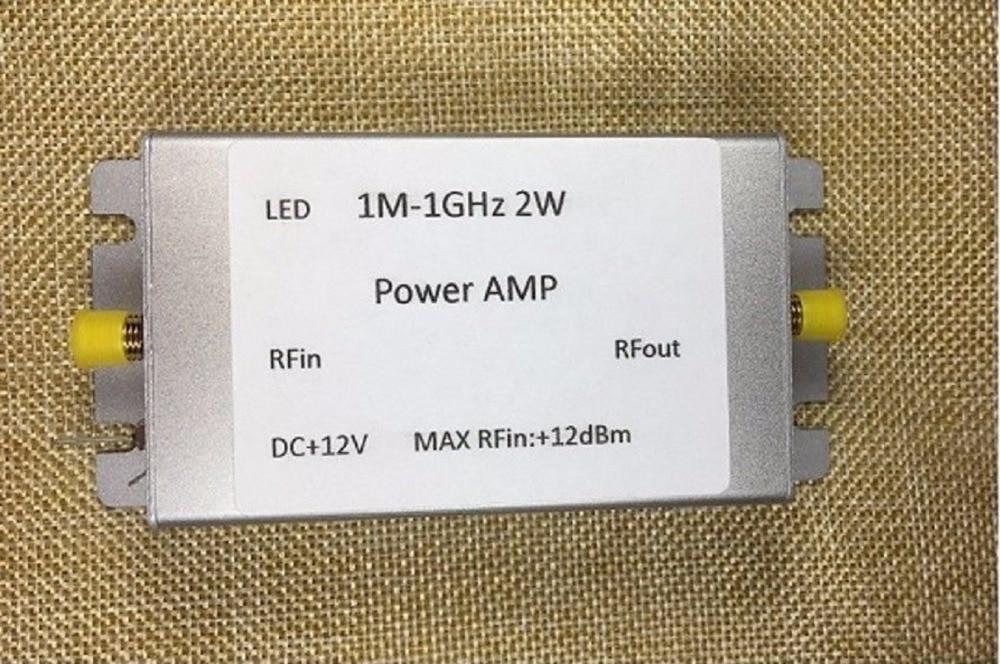 1M 1000MHz 2W HF FM VHF UHF broadband RF power amplifier