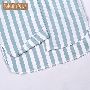 Image 5 - Qianxiu 2017 новая женская ночная рубашка в клетку, популярная дышащая 17115 для вечеринок
