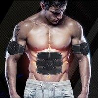 Smart EMS Electric Pulse Treatment Massager Abdominal Muscle Trainer Wireless Sports Muscle Stimulator Fitness Massage P0196