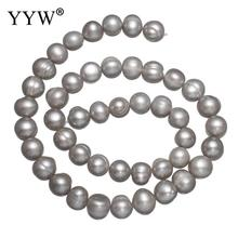 8-9mm Natural Grey Potato Shape Fashion Freshwater Loose Pearl Beads Necklace Bracelat Jewelry Making DIY Pearl Loose Beads