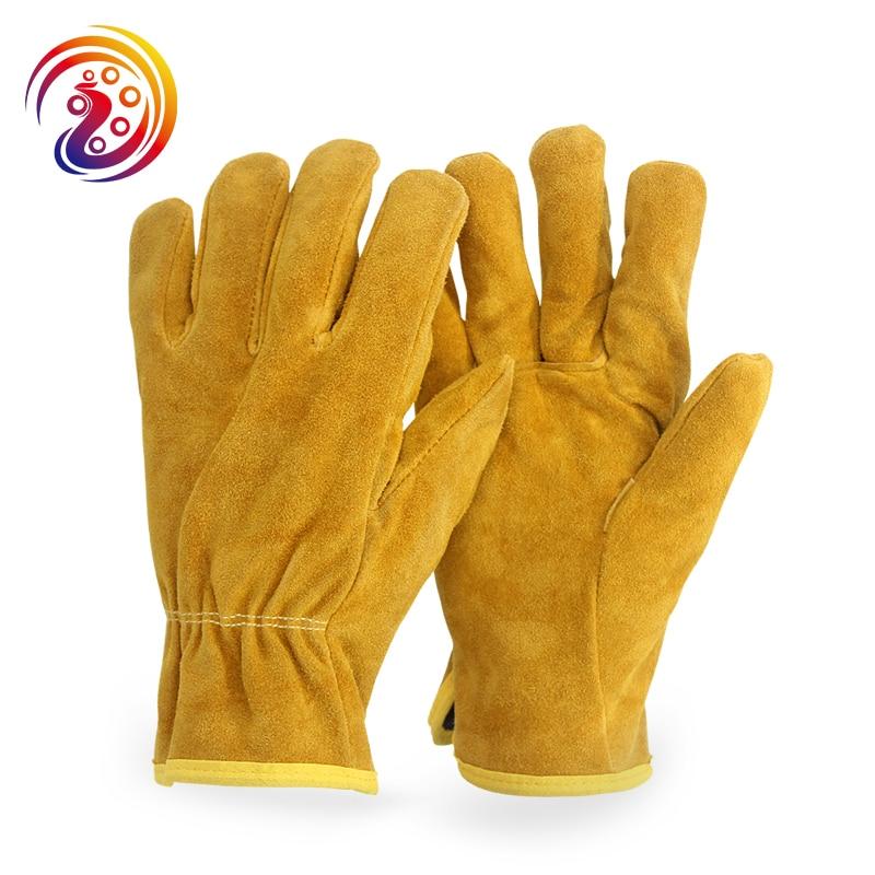 OLSON DEEPAK Cow Split Leather Factory Driving Gardening Welding Work Gloves HY011 Free Shipping gurpreet kaur deepak grover and sumeet singh chlorhexidine chip