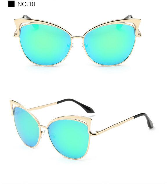 Luxury Cat Eye Sunglasses Women Brand Designer Retro Vintage Sun Glasses For Women Female Ladies Sunglass Mirror Lunettes Oculos (21)