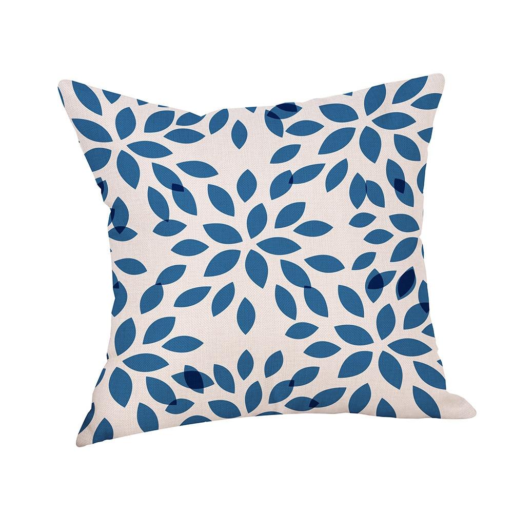 Geometric Animal Pillowcase Linen Throw Pillow Case Nordic Decorative Pillows For Sofa Seat Cushion Cover Office Home Decor#014