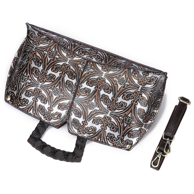 Fashion Retro Embossed Leather Women Shoulder Bag Handbag Messenger Bag