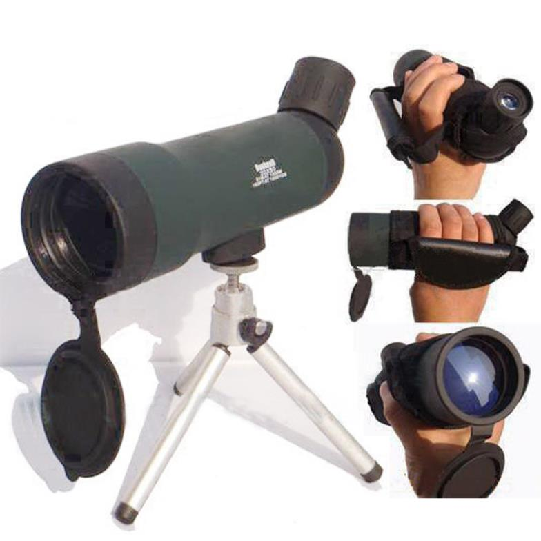 Free shipping HD Monocular Outdoor Telescope With Portable Tripod Night Version Spotting Scope 20x50 Zoom HW2050 20 60x70 zoom spotting scope monocular outdoor telescope with portable tripod monoculares professional bird animal telescope