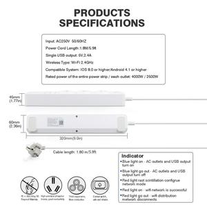 Image 4 - Rdxone Smart Wifi Power Strip wifi plug Sockets 4 USB Port Voice Control Works With Alexas , Google Home Timer
