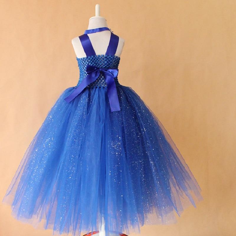 Baby Girls Kids Blue Party Cinderella Princess Romper Costume Dress Prop Set