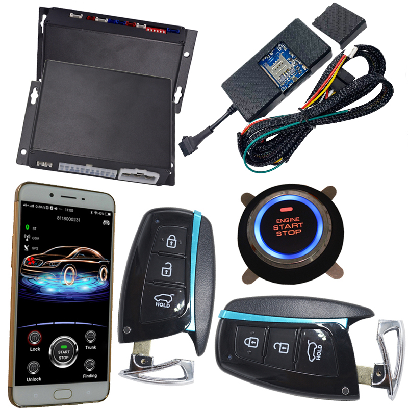New App Alarm Phone Calling Reminding Push Button Start Gps Car Alarm Utmost In Convenience