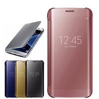 Smart Mirror Plating Case For Samsung Galaxy A3 A5 A7 2017 A320 A520 Clear View Leather