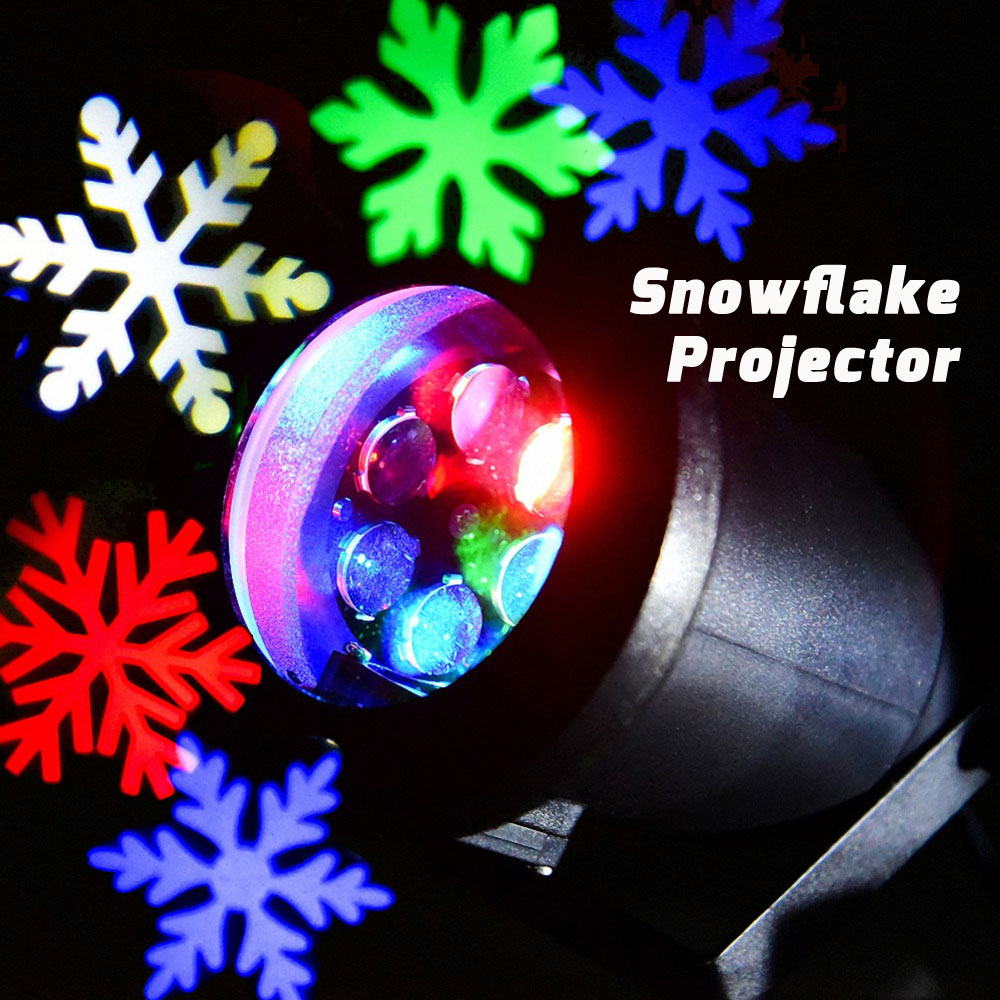 Christmas Snowflake Projector Colorful RGB LED Light Move effects Snow Showers Outdoor Waterproof