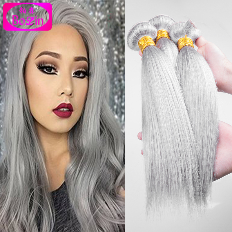 8a brazilian straight virgin hair platinum grey hair extension 8a brazilian straight virgin hair platinum grey hair extension 3pcs human hair extensions silver grey hair weaves fast shipping in hair weaves from hair pmusecretfo Images