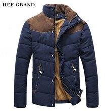 Hee сплайсинга хлопка-ватник grand зимняя куртка зима плюс размер мужчины