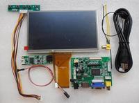 Все новые 7 дюймов 1024*600 Сенсорный экран DIY Kit ЖК-дисплей модуль с автомобиля Дисплей монитор сзади Вей HDMI, VGA, USB AV Raspberry Pi 3