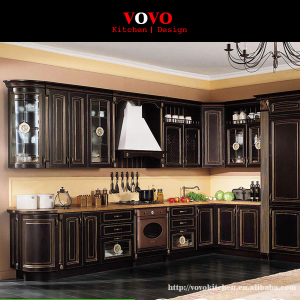 US $4599.0 |Espresso kitchen cabinet in unique design-in Kitchen Cabinets  from Home Improvement on Aliexpress.com | Alibaba Group