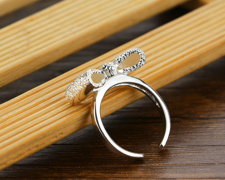 925 sterling silver ring for women fashion cute silver ring bowknot