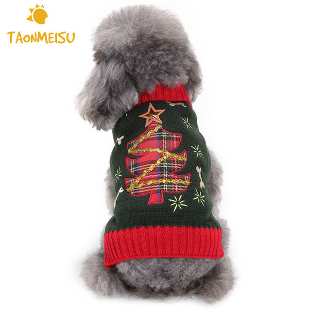 New Arrival Autumn Winter Style Christmas Tree Knitting Pattern Pet