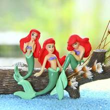 Mermaid Princess Ariel Figures Toys Cute Princess Mermaid PVC Action Figure Toys Doll Collection Toy for Gardening Oranments(China)