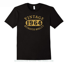 100 % Cotton Tee Shirt For Men 53 Years Old 53rd B-day Birthday Gift Vintage 1964 T-shirt Short  Casual