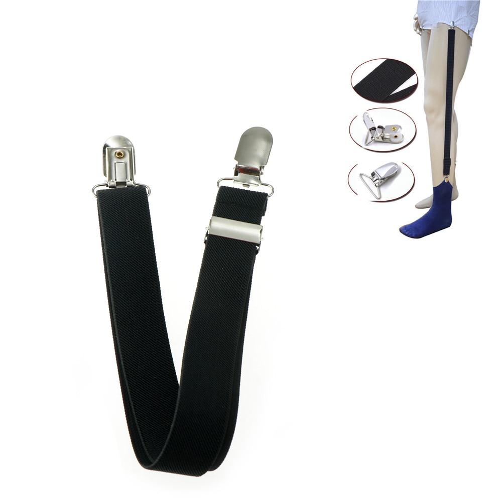 1pc Elastic Uniform Business Style Suspender Shirt Garters Men Shirt Stays Holder Military Straight Stirrup Suspenders