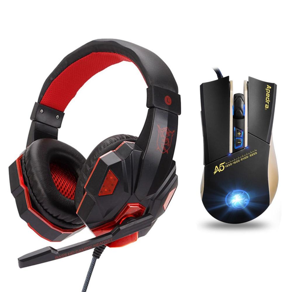 Gaming Headset game Headphones Deep Bass Stereo