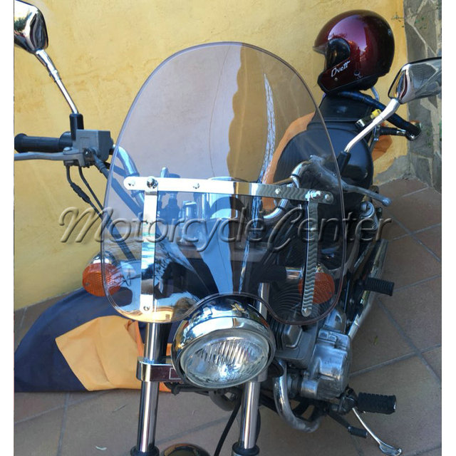 US $47 99 20% OFF|Smoke Windscreen Windshield For 1969 2018 Suzuki  Boulevard C50 C90 M50 M90 S40 S50 S83 Intruder 1400 1500 700 800 GN250  GN125-in