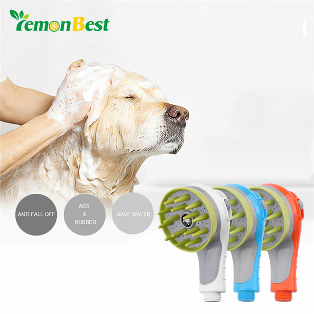 LemonBest Pet Dog Cat Cleaning Shower Head Spray Drains Strainer Bath Hose  Sink Multifunctional Push Bath