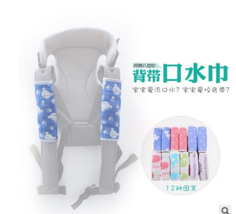 One piece  100% cotton Looped Fabric Baby Teething Pad/Safety Sucking Pad/Baby Slobber Towel-Attached around baby carrier(China)
