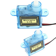 5pcs/lot 3.7g Mini Micro Servo for RC plane Helicopter Boat Car(China)