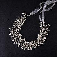 The New Selling Handmade Gold Leaf Flower Hair Accessories Jewelry Headband Bride Wedding Dress