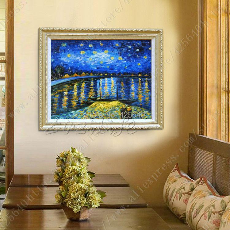 sena de vincent van gogh pintura al leo decoracin de pared imgenes para sala de estar