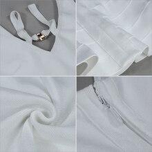 New Summer White Bodycon Bandage Mermaid Dress