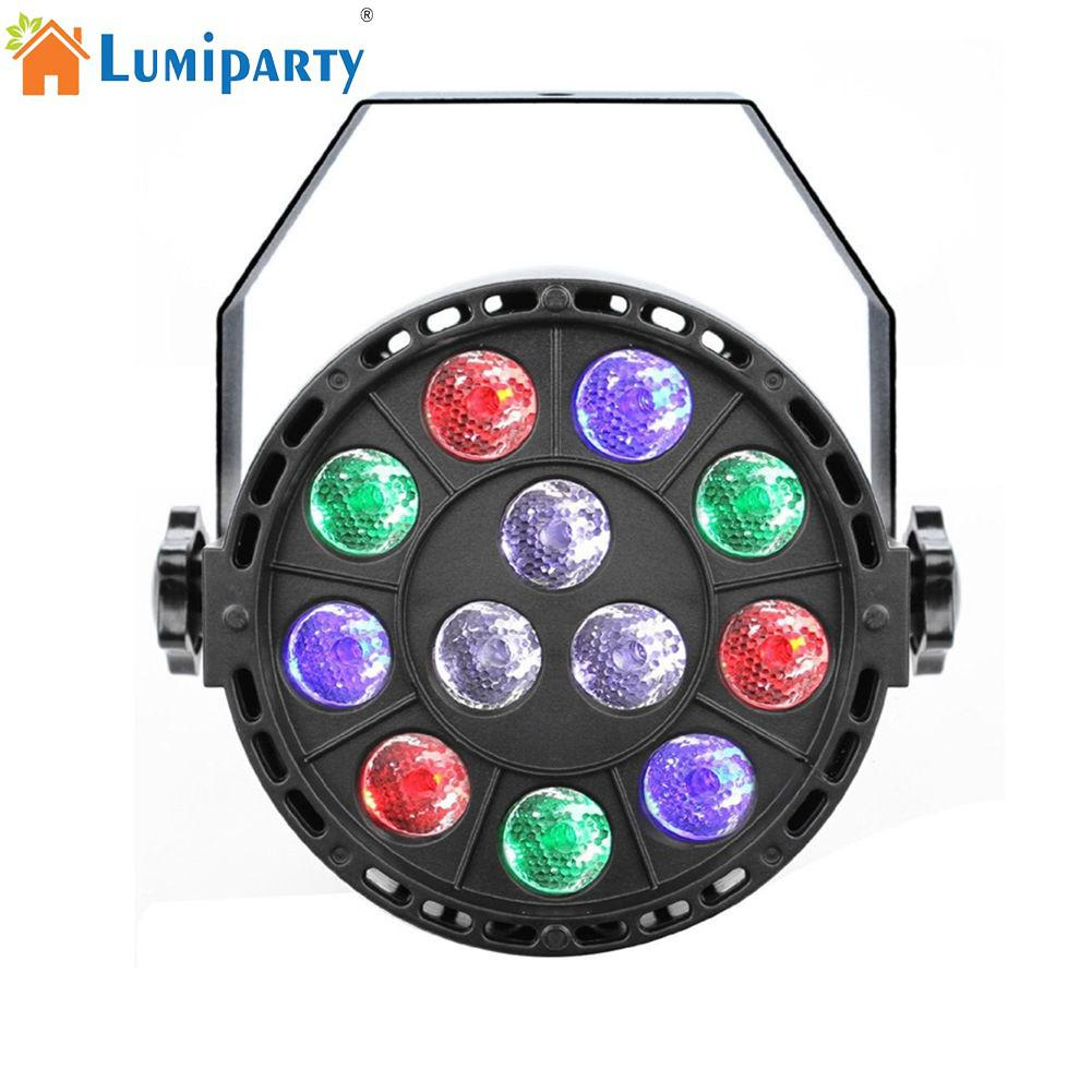 LumiParty 12 LED Sound Sensor Projection Light Colourful Stage Lamp for Club DJ Show Party Ballroom Bands