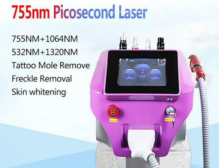 Picosecond Q Switch Laser Machine Pigment Removal With1064nm 532nm 755mm Pico Laser Ance Removal Skin For Salon Clinic
