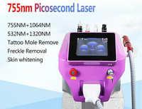 Picosecond Q przełącznik maszyna laserowa usuwanie pigmentu with1064nm 532nm 755mm Pico laserowe trądzik usuwanie skóry do salonu z różnych dziedzin medycyny